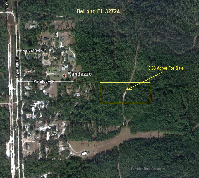 Volusia County DeLand Florida Lots for sale