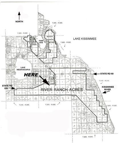 River Ranch Acres Plat Map