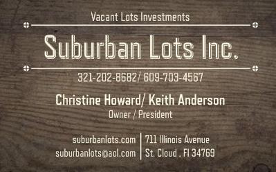 Suburban Lots Inc